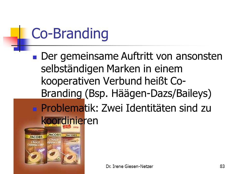 Dr. Irene Giesen-Netzer82 Markentransferstrategie Weitere Ausgestaltungsformen der Strategie: Herausstellung eines gleichen Verwendungsumfelds Micheli