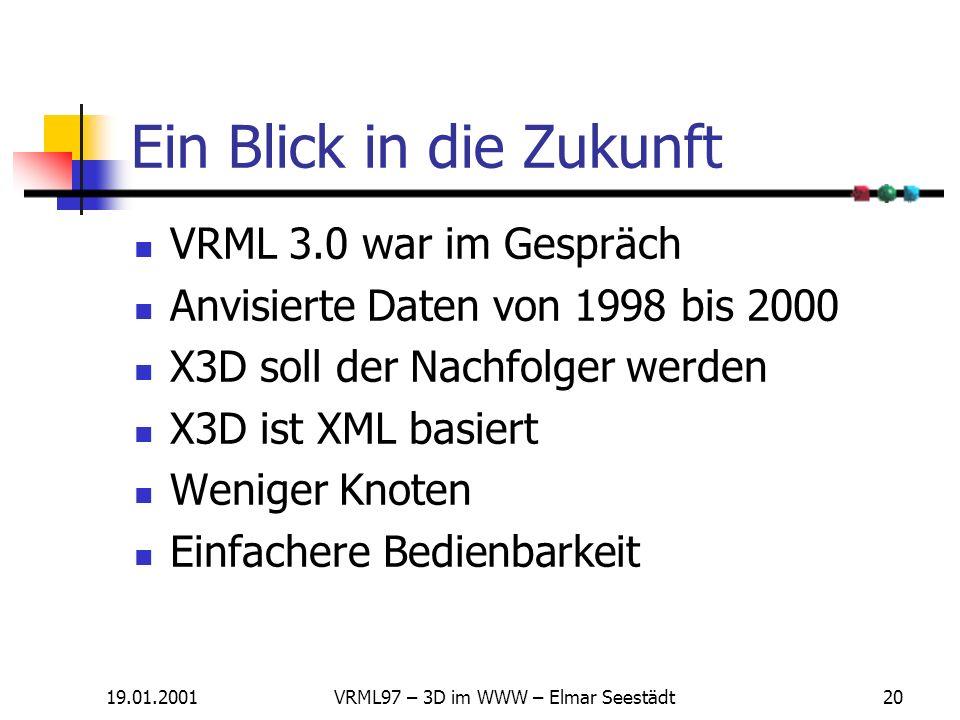 19.01.2001VRML97 – 3D im WWW – Elmar Seestädt19 Knoten - Übersicht