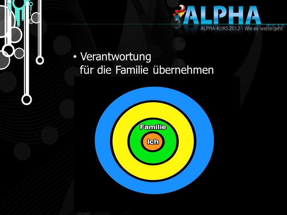 ALPHA-KURS 2012 - Wie es weitergeht Verantwortung für die Familie übernehmen