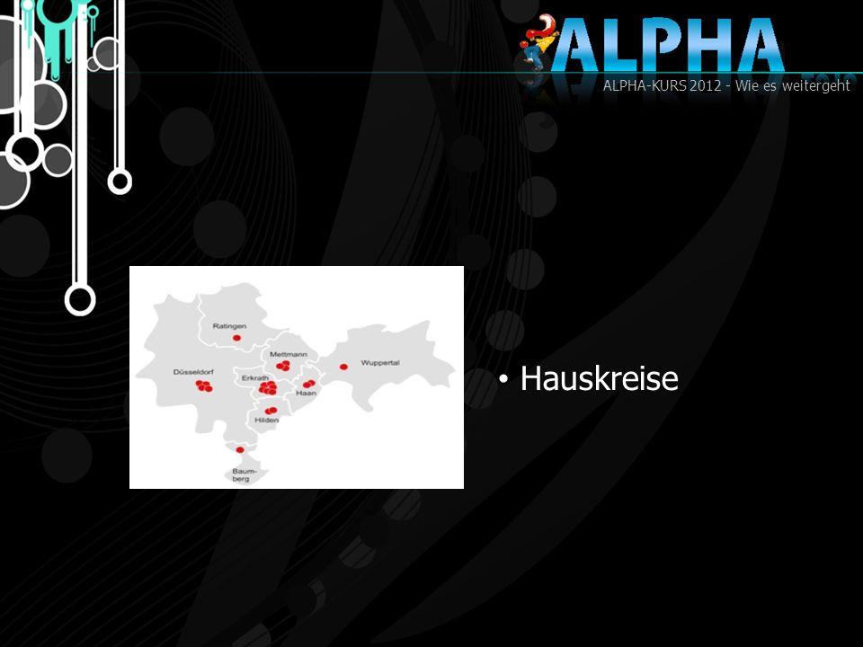 ALPHA-KURS 2012 - Wie es weitergeht Hauskreise