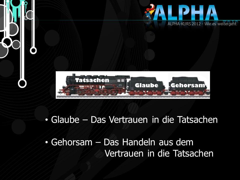 ALPHA-KURS 2012 - Wie es weitergeht Erfahrung – Die Bestätigung der Tatsachen