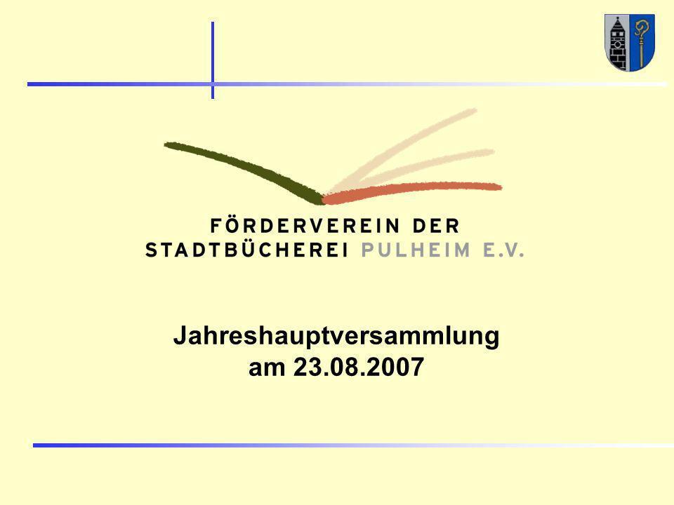 Jahreshauptversammlung am 23.08.2007