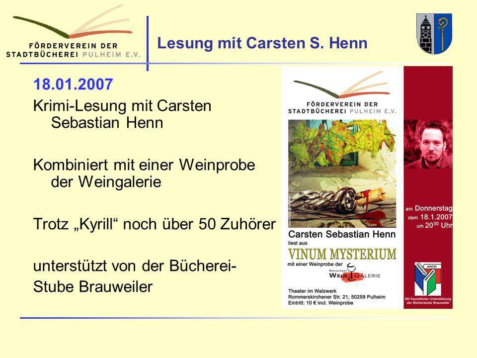 Lesung mit Carsten S.