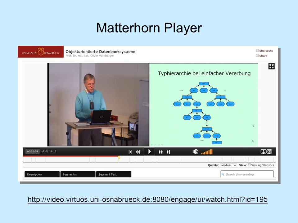 Matterhorn Player http://video.virtuos.uni-osnabrueck.de:8080/engage/ui/watch.html?id=195
