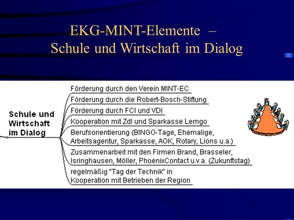 EKG-MINT-Elemente – Schule und Wirtschaft im Dialog