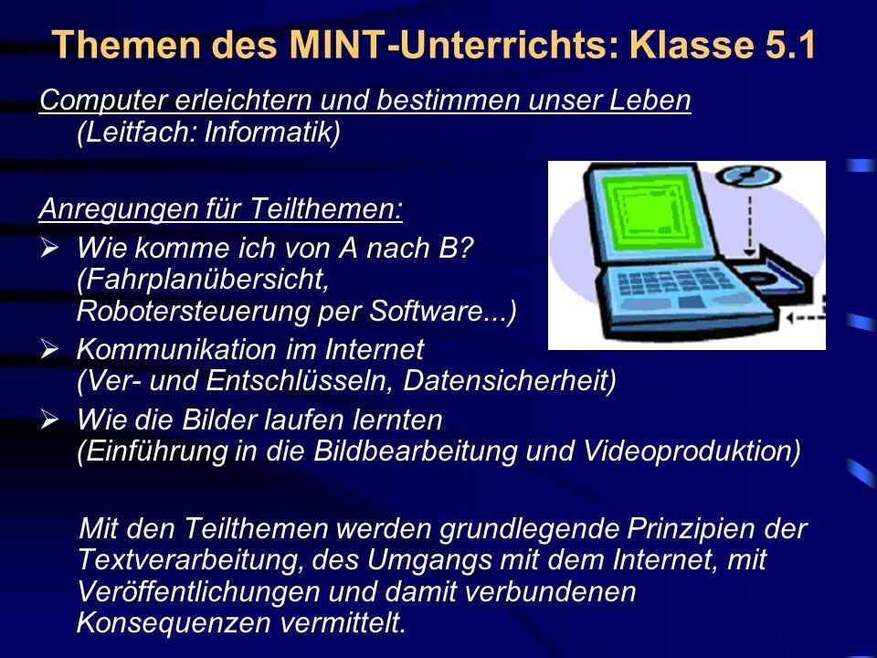 EKG-MINT-Elemente – Lehr- u. Lern-Methoden und Wettbewerbe