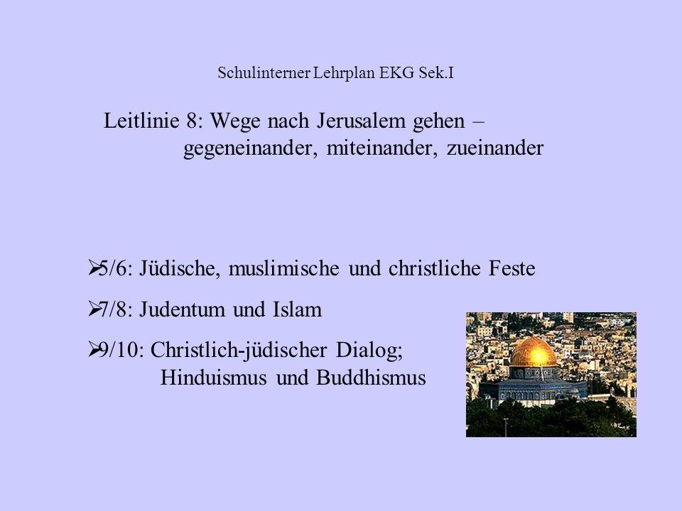 5/6: Die ersten Christen – das Christentum breitet sich aus; Evangelisch – katholisch 7/8: Wege in eine neue Zeit: Die Reformation 9/10: Die Kirche zu