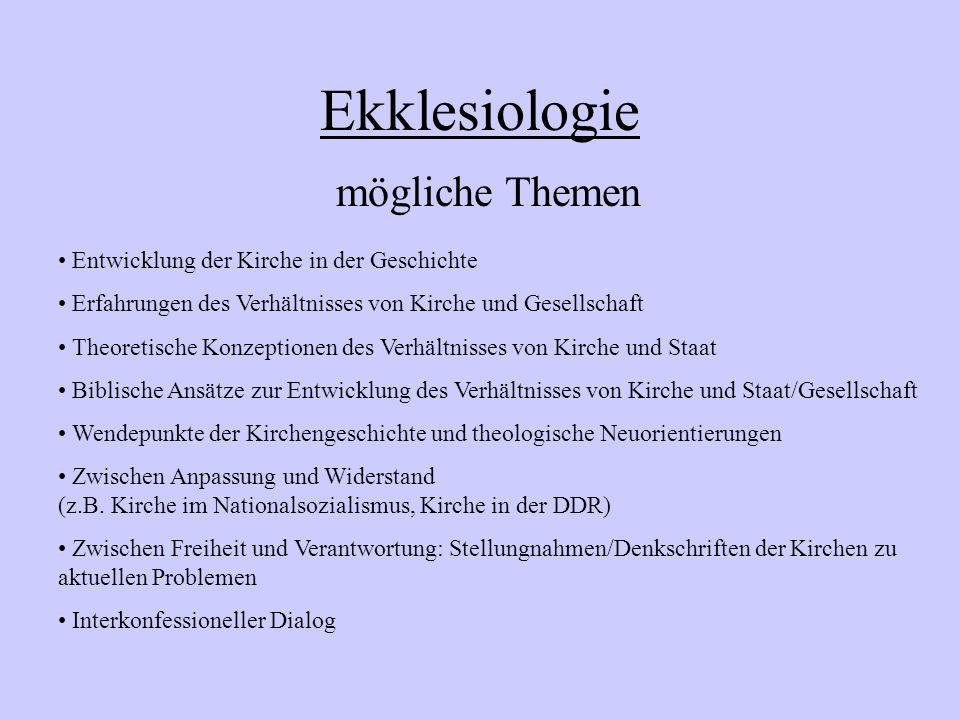 Schulinterner Lehrplan EKG Sek.II 11/2: Ekklesiologie