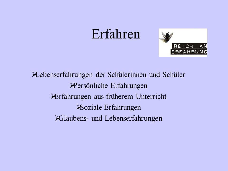 Didaktisches Konzept Lehrplan Evangelische Religion Gymnasium Sek. I Prinzipien des Unterrichts: Erfahren – Verstehen - Handeln