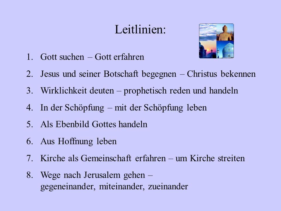 Didaktisches Konzept Lehrplan Evangelische Religion Gymnasium Sek. I Inhaltliche Leitlinien