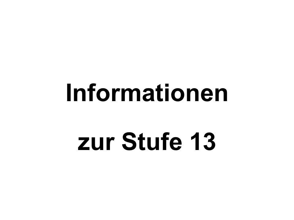 Informationen zur Stufe 13