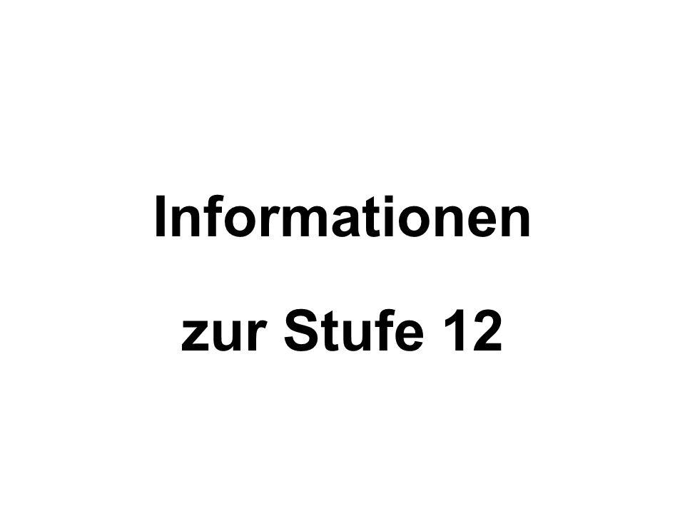 Informationen zur Stufe 12