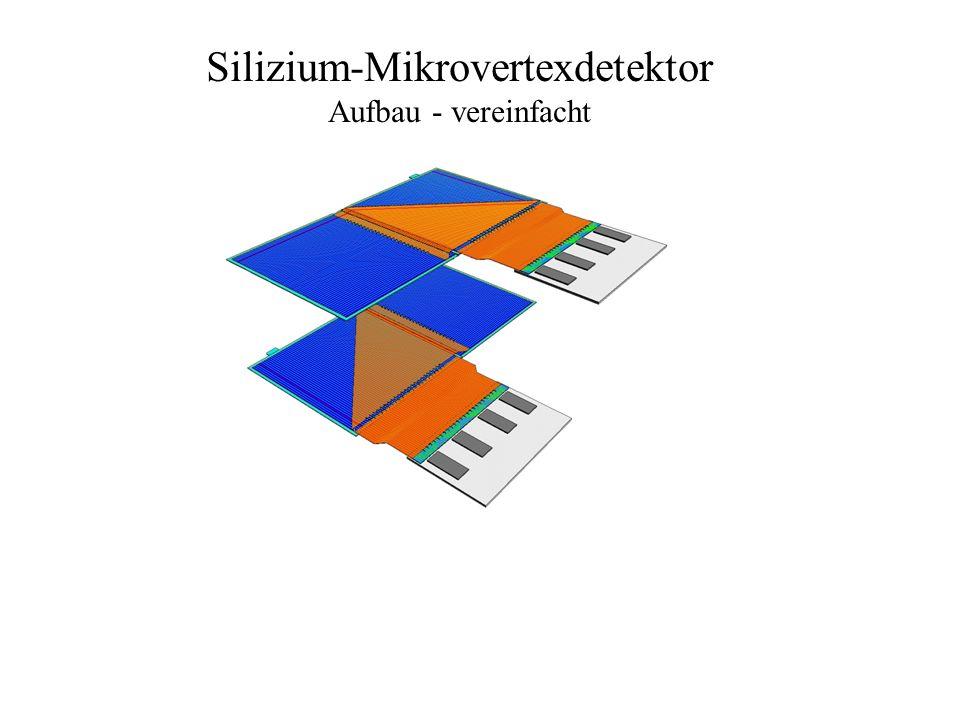 Silizium-Mikrovertexdetektor Aufbau - vereinfacht