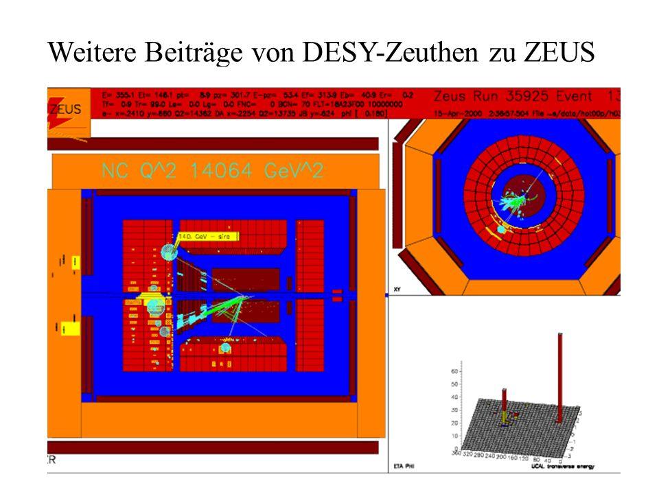 Weitere Beiträge von DESY-Zeuthen zu ZEUS Datennahmesystem Transputerauslese mit optischen Fasern Module in Zeuthen entwickelt - wartungsfrei und robu