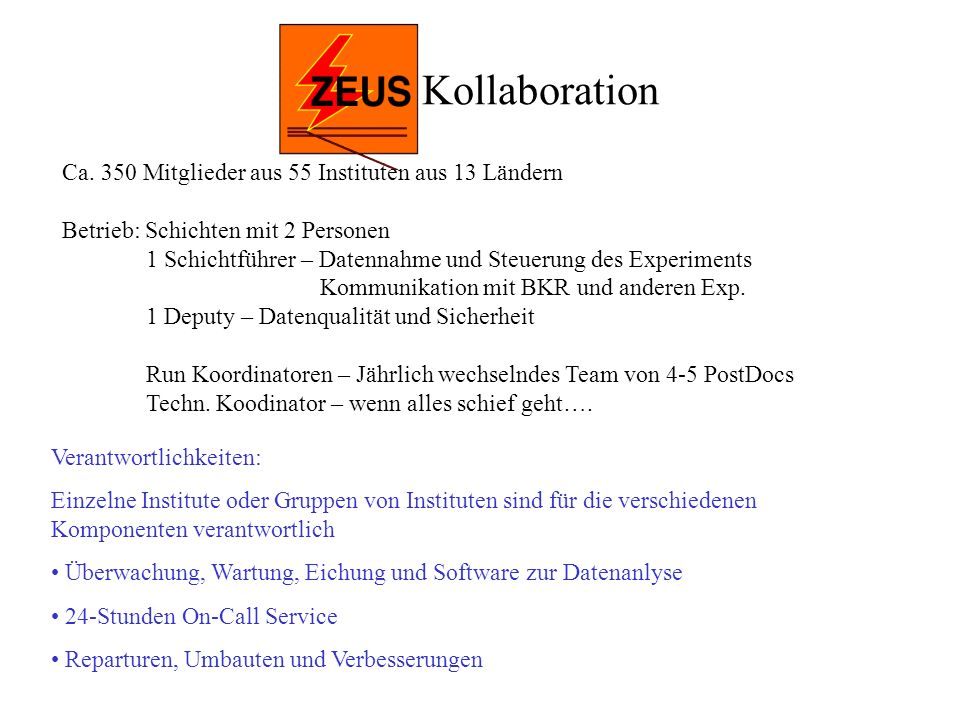 ZEUS Kollaboration Ca.