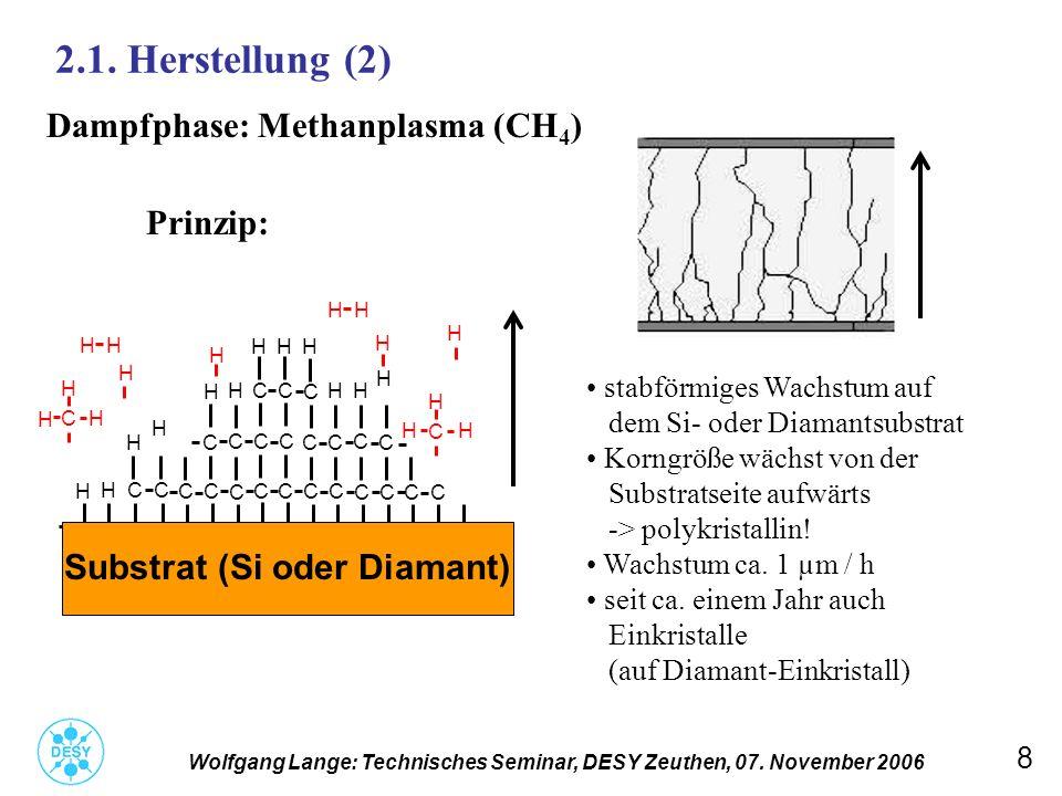 9 2.1.Herstellung (3) Wolfgang Lange: Technisches Seminar, DESY Zeuthen, 07.