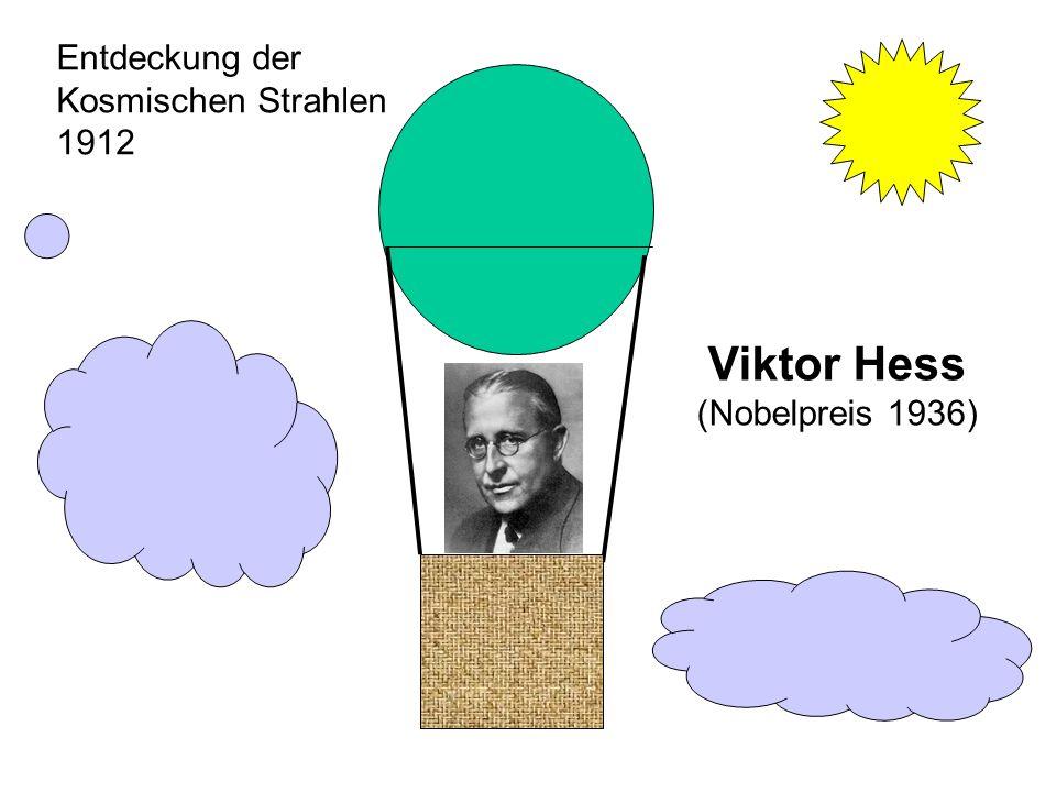 Viktor Hess (Nobelpreis 1936) Entdeckung der Kosmischen Strahlen 1912