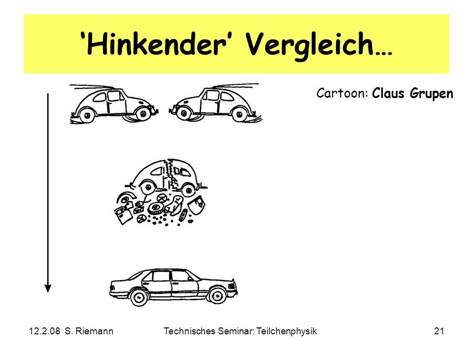 12.2.08 S. RiemannTechnisches Seminar: Teilchenphysik21 Hinkender Vergleich… Cartoon: Claus Grupen