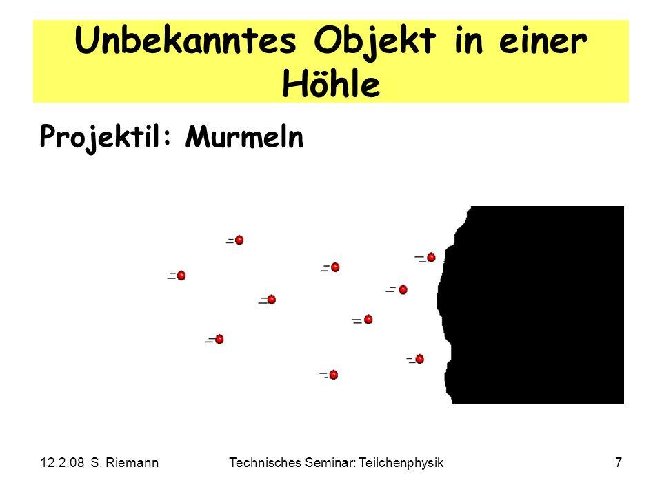 12.2.08 S. RiemannTechnisches Seminar: Teilchenphysik8 Wirkungsquerschnitt