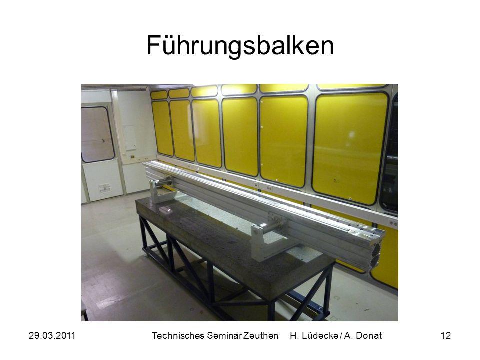 29.03.2011Technisches Seminar Zeuthen H. Lüdecke / A. Donat12 Führungsbalken