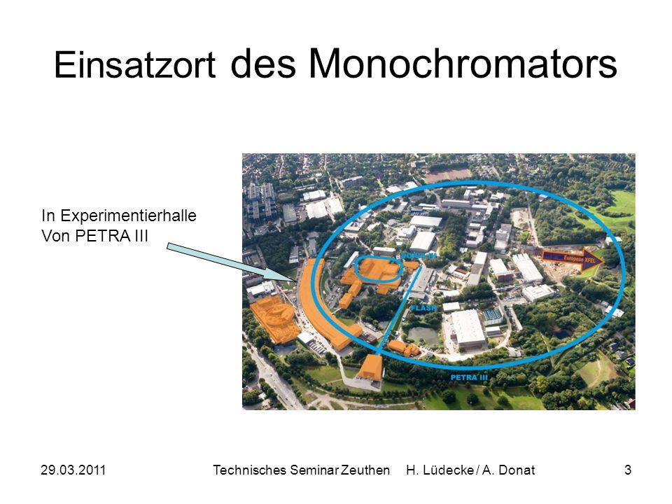 29.03.2011Technisches Seminar Zeuthen H. Lüdecke / A. Donat3 Einsatzort des Monochromators In Experimentierhalle Von PETRA III