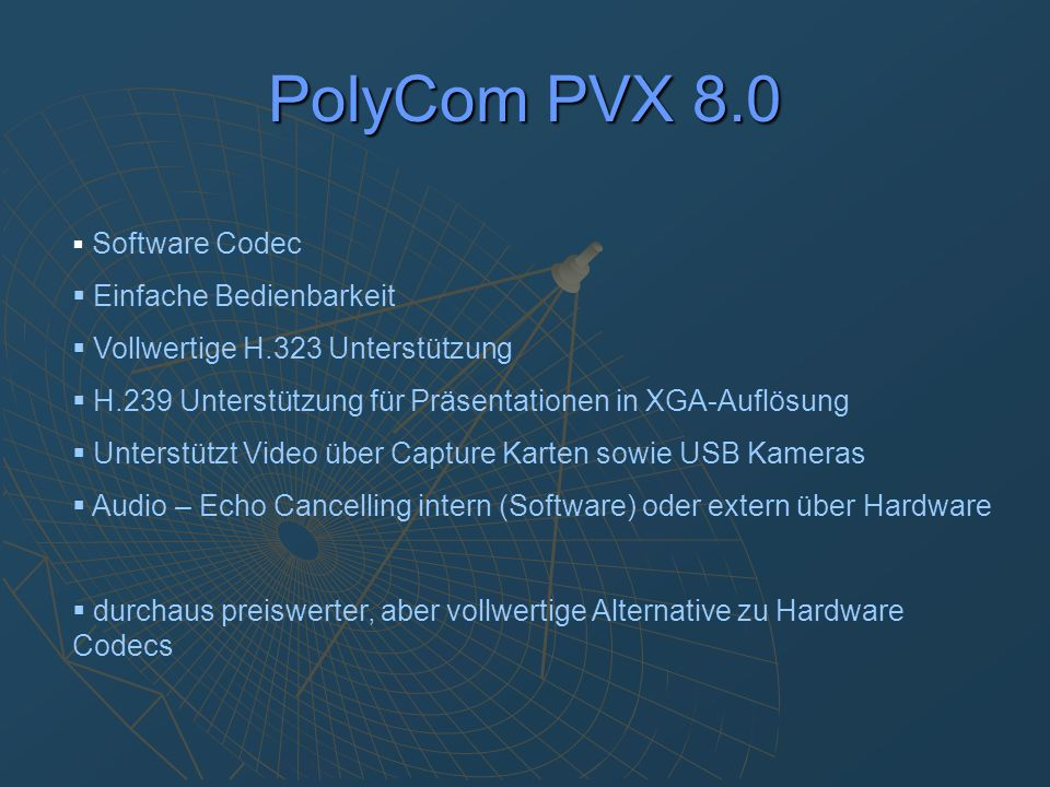 PolyCom PVX 8.0