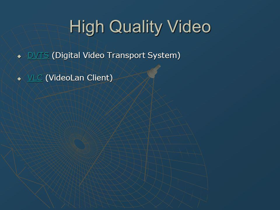 VLC Entwickelt von der Ecole Centrale Paris Universeller Multiplatform Media Player / Server für MPEG …