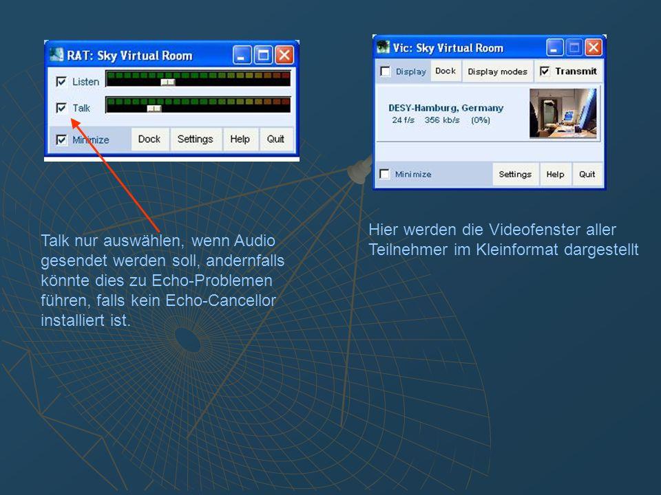 Sicherstellen, daß Line-In als Audio Device ausgewählt ist.