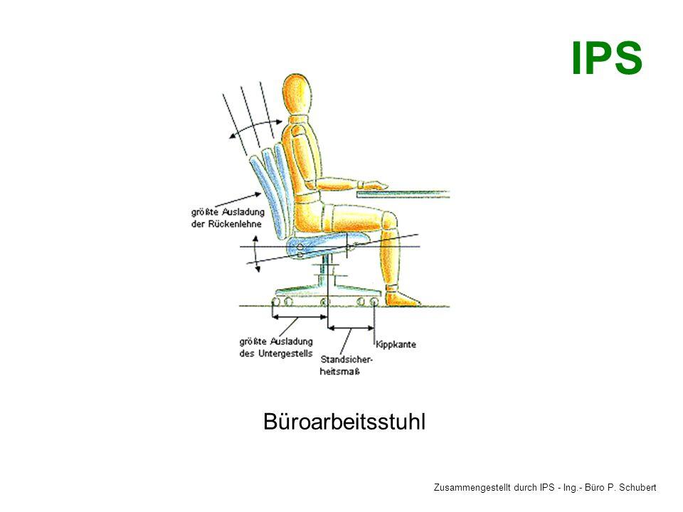 Büroarbeitsstuhl Zusammengestellt durch IPS - Ing.- Büro P. Schubert IPS