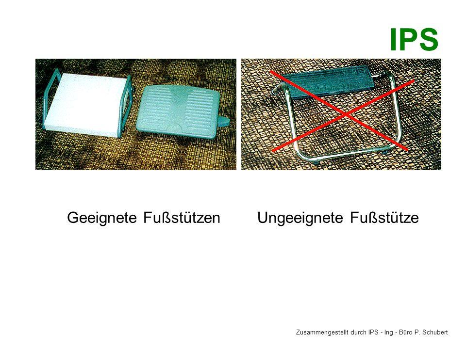 Geeignete FußstützenUngeeignete Fußstütze Zusammengestellt durch IPS - Ing.- Büro P. Schubert IPS