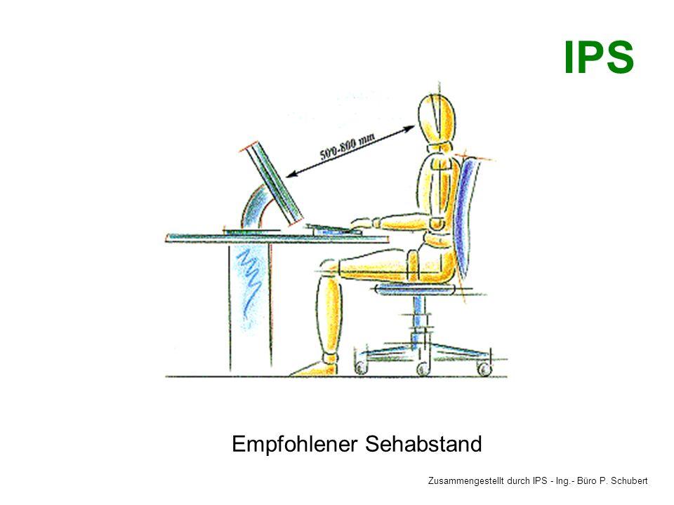 Empfohlener Sehabstand Zusammengestellt durch IPS - Ing.- Büro P. Schubert IPS