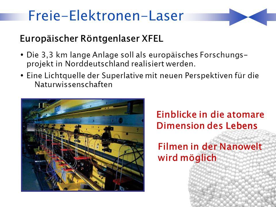 Die 3,3 km lange Anlage soll als europäisches Forschungs- projekt in Norddeutschland realisiert werden. Eine Lichtquelle der Superlative mit neuen Per