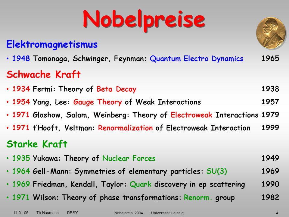 11.01.05 Th.Naumann DESY Nobelpreis 2004 Universität Leipzig34 Nature, Vol. 400, 1 July 1999.