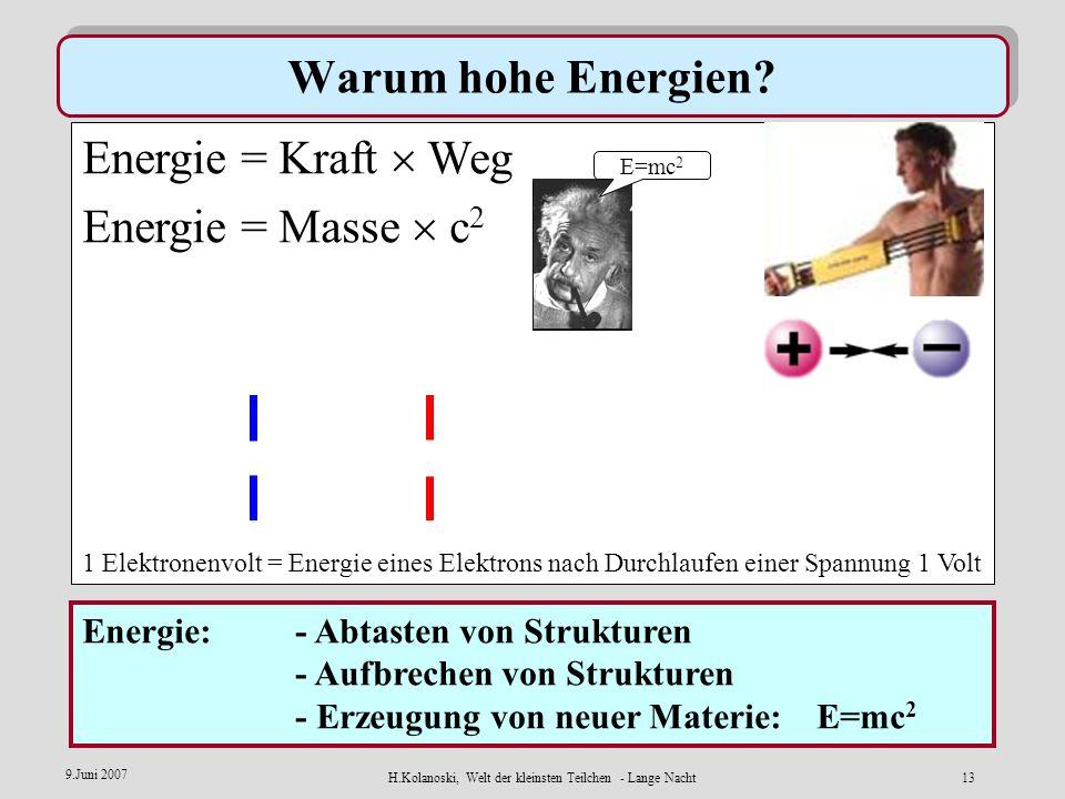 H.Kolanoski, Welt der kleinsten Teilchen - Lange Nacht12 9.Juni 2007