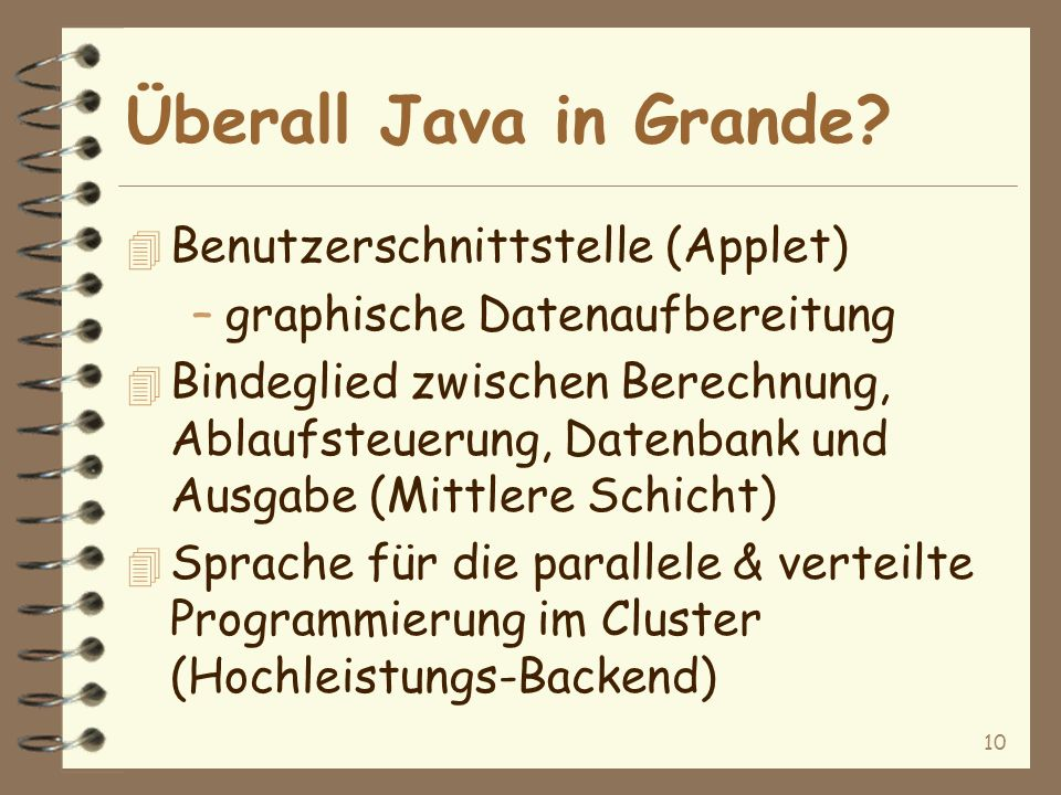 10 Überall Java in Grande.