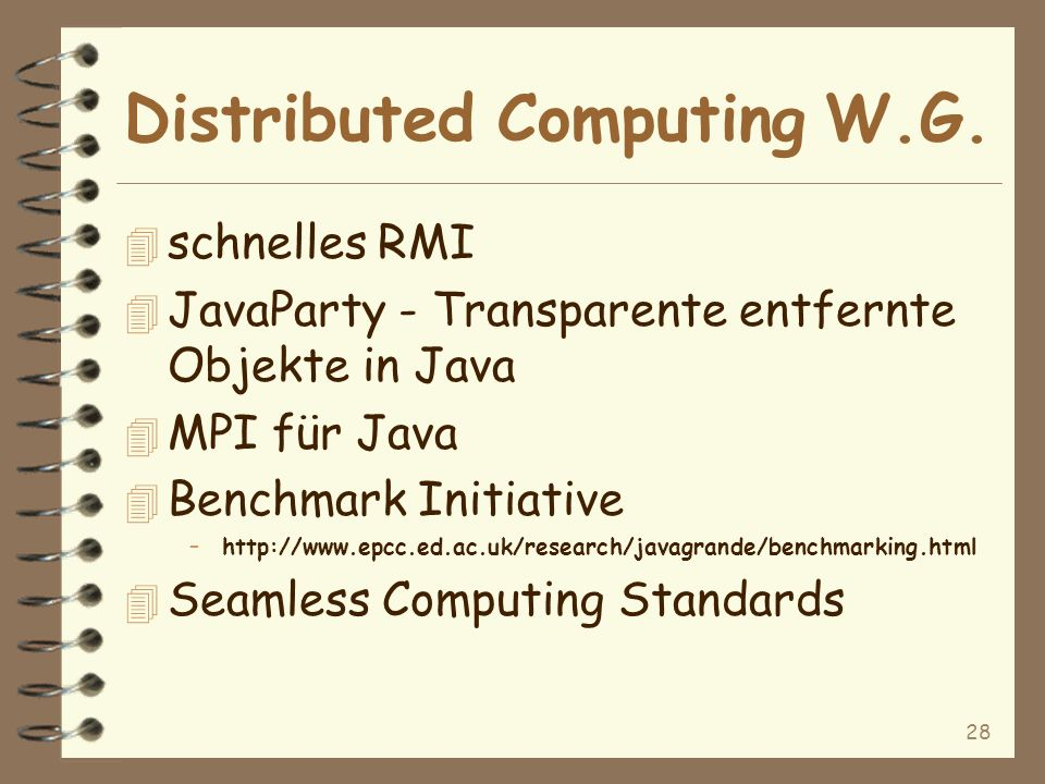 28 Distributed Computing W.G.