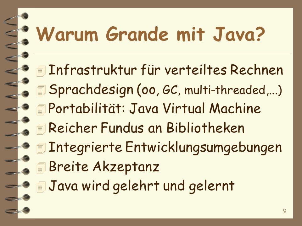9 Warum Grande mit Java.