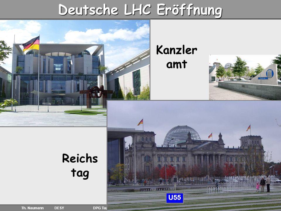 10 Th. Naumann DESY DPG Tagung Freiburg 06.03.08 Deutsche LHC Eröffnung Kanzler amt Reichs tag U55