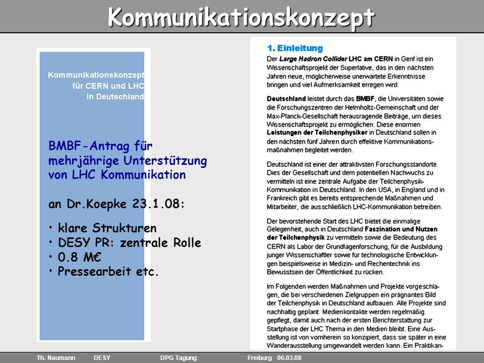 25 Th.Naumann DESY DPG Tagung Freiburg 06.03.08 Exponate -Hands-on in der Pull Kommunikation, z.B.