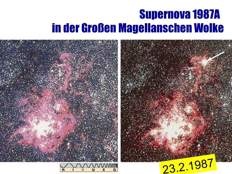 Supernova 1987A in der Großen Magellanschen Wolke 23.2.1987