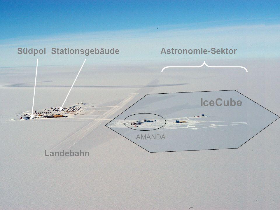 AMANDA IceCube Südpol Stationsgebäude Astronomie-Sektor Landebahn