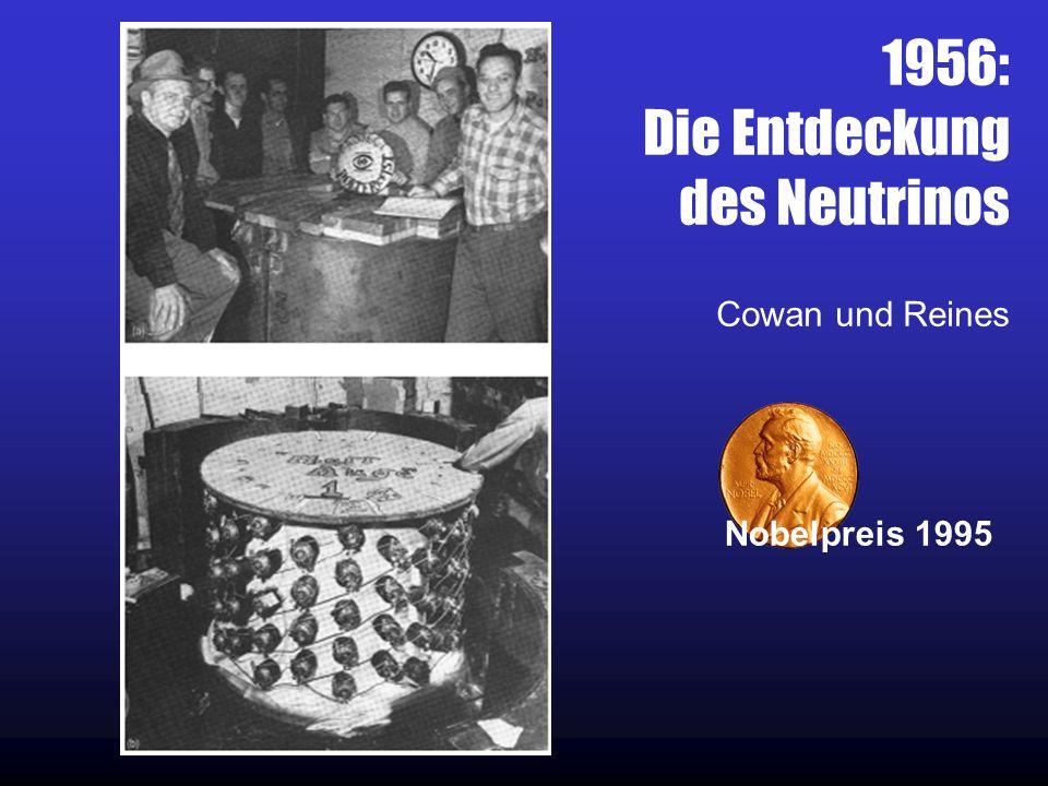 1956: Die Entdeckung des Neutrinos Cowan und Reines Nobelpreis 1995