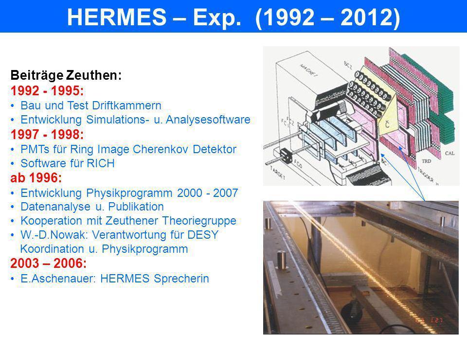 HERA-B – Exp.