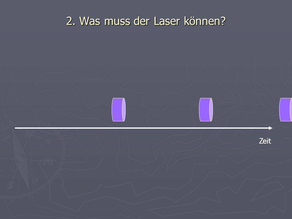 2. Was muss der Laser können? Zeit