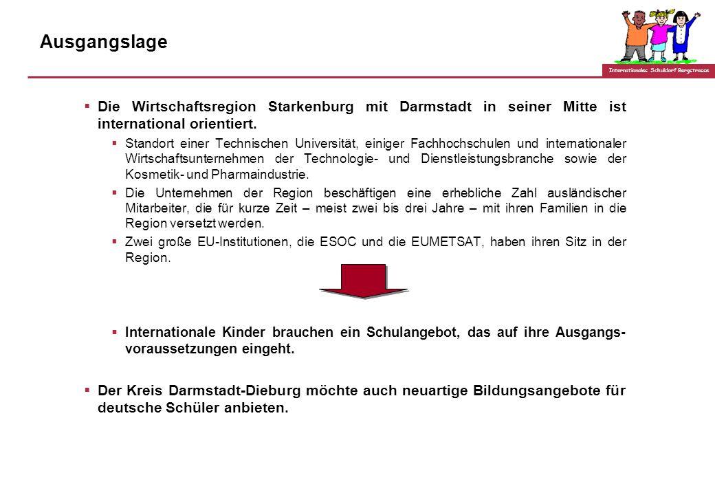 Internationales Schuldorf Bergstrasse Ausgangslage Die Wirtschaftsregion Starkenburg mit Darmstadt in seiner Mitte ist international orientiert.