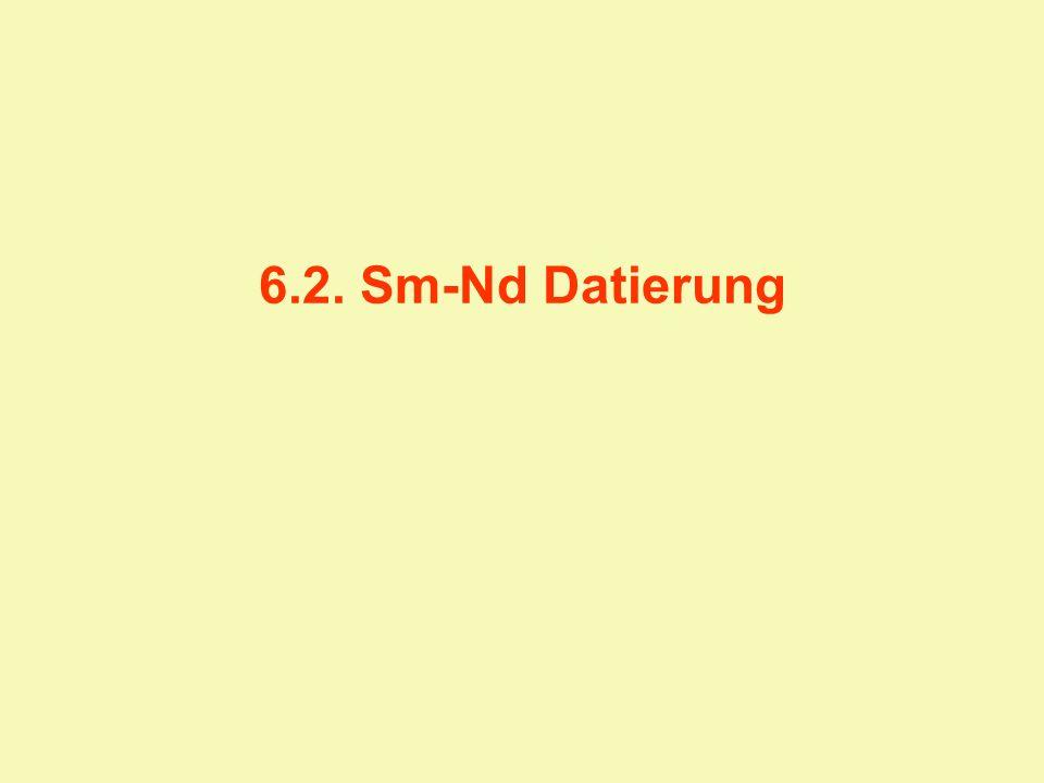6.2.Sm-Nd Sm und Nd gehören zur Gruppe der Seltenerdelemente (SEE) bzw.
