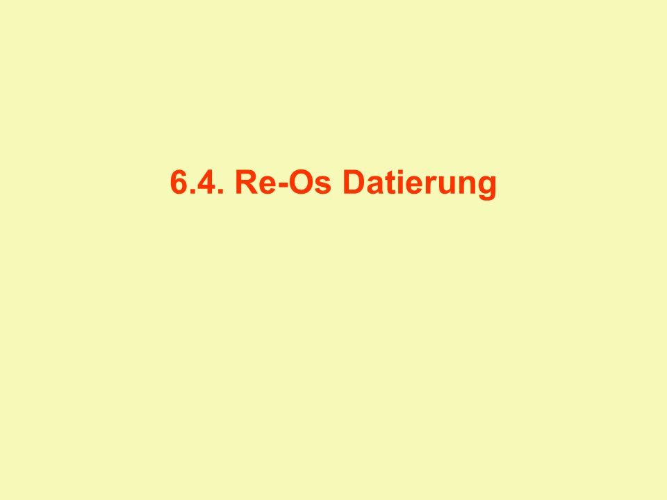 6.4. Re-Os Datierung