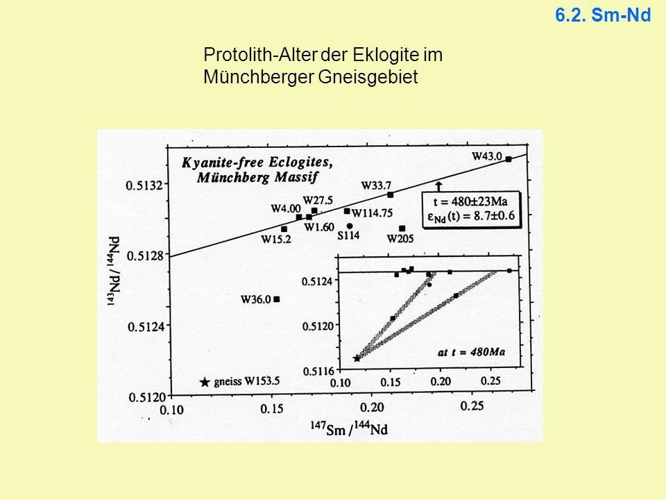 6.2. Sm-Nd Protolith-Alter der Eklogite im Münchberger Gneisgebiet