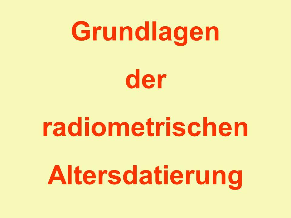 Grundlagen der radiometrischen Altersdatierung