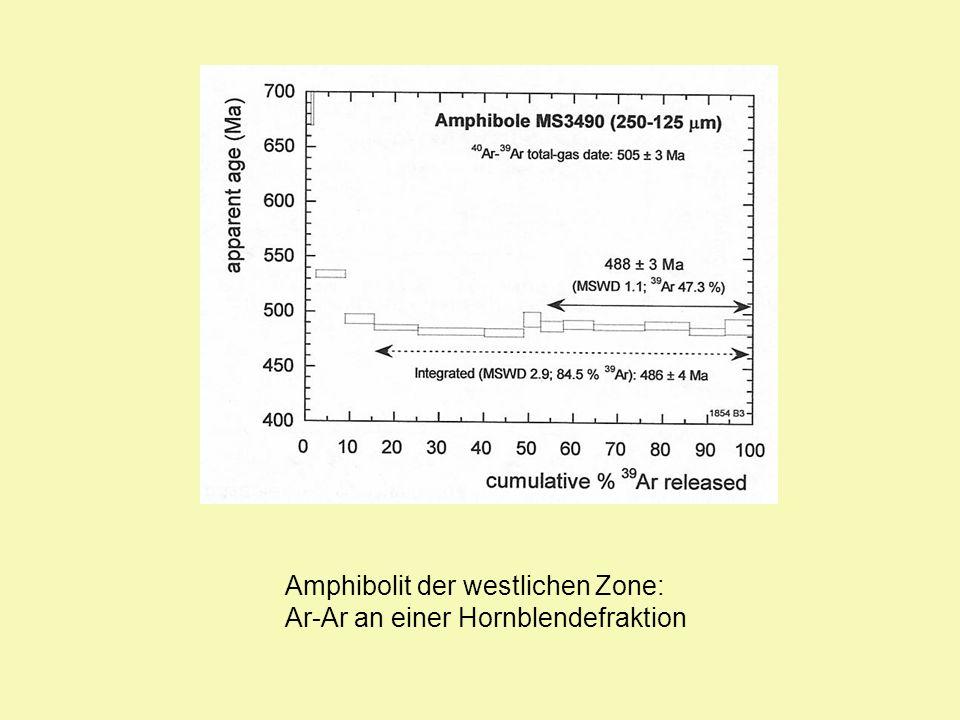 Amphibolit der westlichen Zone: Ar-Ar an einer Hornblendefraktion